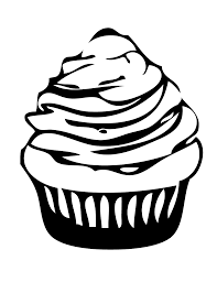 Printable Cupcake Coloring Page Foods Coloring