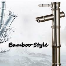 whole and retail brushed nickel bathroom faucet bamboo style sinlge handle hole vessel sink mixer tap deck mounted by gonglangno1 dhgate