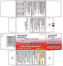 Children S Chewable Tylenol Dosage Chart Ndc 0904 5256 Childrens Chewable Mapap Acetaminophen