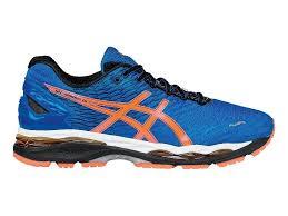 asics gel nimbus 18 running shoes asics 319au colour blue orange