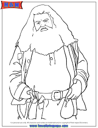 Small Picture Half Giant Rubeus Hagrid From Harry Potter Movie Coloring Page