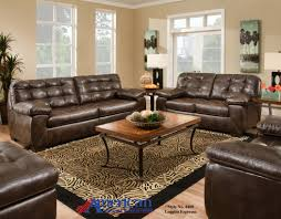 Pc Living Room Set American 4400 Loggins Espresso 3 Pc Set Sofa Loveseat And Chair