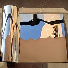Amazon.com: <b>funlife</b> Reflective Flexible Chrome Mirror-Like Wall ...