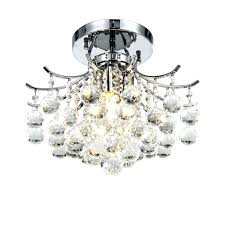 semi flush crystal chandelier semi flush crystal