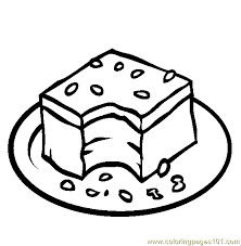 Small Picture Desserts Coloring Pages