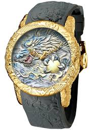 Big Face Designer Watches Mens Watches Men Waterproof Luxury Big Face Chinese Style 3d Dragon Designer Wrist Watch Fashion Cool Black Analogue Quartz Emboss Watches For Man