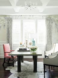 elegant home office. Tour Fashion Designer Rachel Roy\u0027s Elegant Home Office With Hand-painted De Gournay Wallpaper,