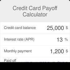 Calculator Credit Card Payment Credit Card Payoff Calculator Omni