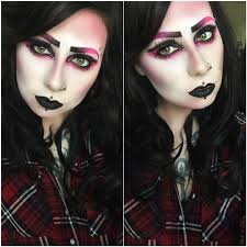 for you skullette monster high doll draculaura ghouls rule makeup tutorial draculaura asylum dollz alternative fashion kc kynk cosplay
