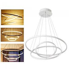 zhaoyao modern minimalist nordic style circular led chandelier for dining room warm white light