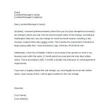 Rent Increase Notification Letter Rent Increase Letter To Tenant Sample Notice Of Apartment Vacancy