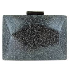 glitter faux leather clutch