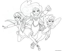 Coloriage Wonder Woman And Friends Super Hero Girls Dessin