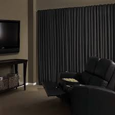 black velvet curtains. Amazon.com: Absolute Zero 11718050X063BK Velvet Blackout Home Theater 50-Inch By 63-Inch Single Curtain Panel, Black: \u0026 Kitchen Black Curtains