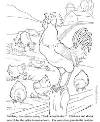 Small Picture farm animal coloring pages Farm Animal coloring pages Rooster