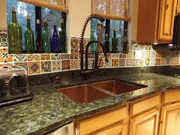 Mexican Style Kitchen Design Mexican Tile Backsplash Kitchen Kitchen Countertop With Mexican