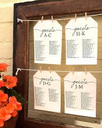 Best Way To Do Wedding Seating Chart Alphabetical Wedding Seating Chart Printable Find Your