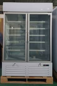china double glass door commercial refrigerator drink display cooler with led light box supplier
