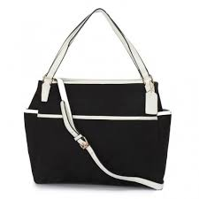 Coach Baby In Signature C Fabric Medium Black Totes ANV