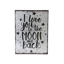 metal wall art i love you to the moon and back