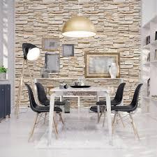 Papel de parede texturizado estilo pedra,tijolos canjiquinha em tons de marrom, e marrom claro. Papel De Parede Pedra Canjiquinha Stickdecor