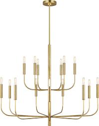 ed ellen degeneres ec10015bbs brianna modern burnished brass chandelier lighting edg ec10015bbs