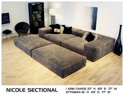 NICOLE Deep Couch   Cozy Movie Pit Couch   Conversation Lounge ...