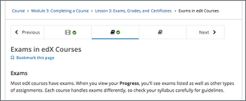 Exam Grades Chart 10 Checking Your Progress In A Course Edx Learners Guide