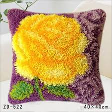 pillow case cushion cover flowers patterns latch hook rug kits sofa wedding bed home decor creative diy festival gifts outdoor pillows on outdoor