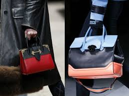 gucci bags fall 2017. miu miu, christopher kane, giorgio armani, boss, louis vuitton have \u201cdiluted\u201d their bags with monochromatic geometric lines, ombre dye technique, gucci fall 2017