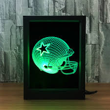 nfl olive hat dallas cowboys photo frame 3d lamp seven color remote touch gift night