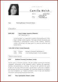 18 Curriculum Vitae Examples For Students Sendletters Info