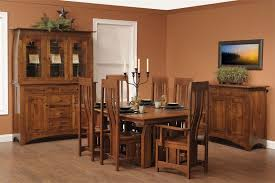 mission style dining room table chairs. check out the new miller collection dining room set! - amish furniture mission style table chairs