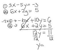 solve system two linear equations using