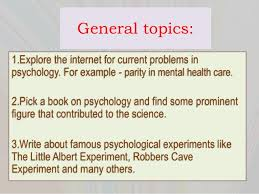 psychology term paper topics 3 general topics