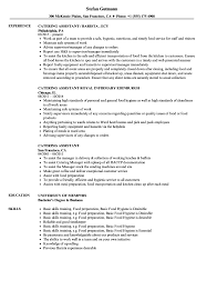 Caterer Resume Catering Assistant Resume Samples Velvet Jobs