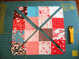 Happy Quilting: Disappearing 16 Patch Tutorial & Continue this process until all of your 16 patch blocks have been cut. You  will have a fun little pile of triangles. Adamdwight.com