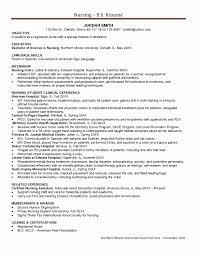 Nurse Resume Sample Nursing Resume Sample Inspirational Icu Rn Resume Example Icu 18
