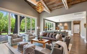 Use color to tie everything together. Color helps coordinate open concept  ...