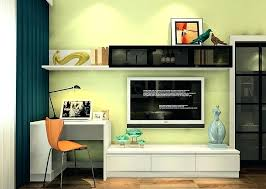computer desk and tv