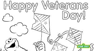 Small Picture Veterans Day Coloring Page Printable Sesame Street Preschool