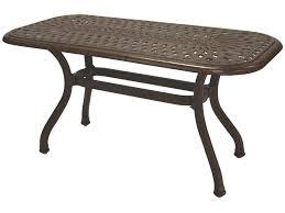 darlee outdoor living series 60 cast aluminum 42 x 21 rectangular coffee table clearance da20106