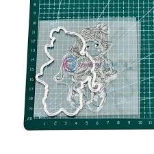 In stock <b>Little Girl's Carbon Steel</b> Cutter Mold Embossing Die Stamp ...