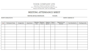 attandance list 38 free printable attendance sheet templates free template