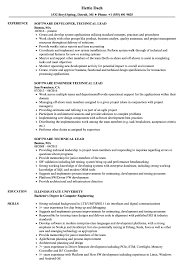 Agile Methodology Resume Software Technical Lead Resume Samples Velvet Jobs 20