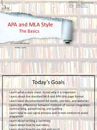 Mla And Apa Stylethe Basics American Psychological Association