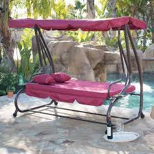 belleze outdoor canopy porch swing bed hammock tilt canopy with steel frame burdy