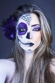 half skull makeup day of the dead half skull