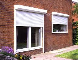 security shutters on house door and window