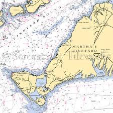 Massachusetts Tisbury Lamberts Cove Martha S Vineyard Nautical Chart Decor